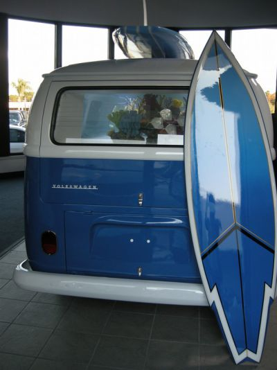 VW campervan as an aquarium