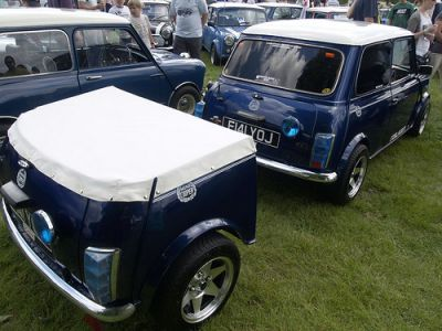 Mini used as a trailer