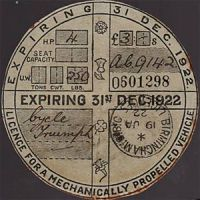Old Tax Disk