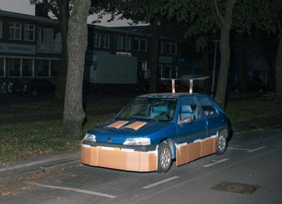 Guy Pimps Stranger's Cars With Cardboard