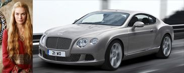 Cersei Lannister - Bentley Continental GT