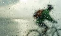 Blurred cyclist