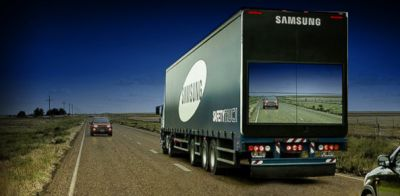 Samsung's See-Through Truck