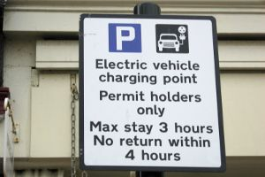 EV Parking Sign Brighton