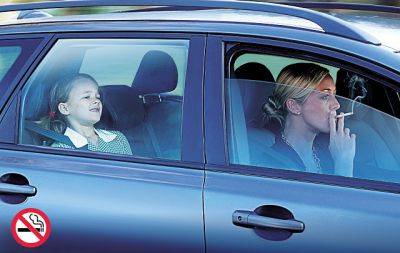 Smoking with children in the car could soon be illegal