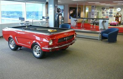 Ford Mustang turned into a pool table