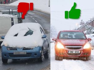 Can you drive with snow on your car?