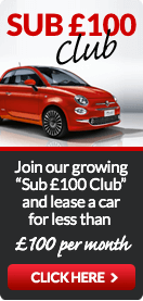 Join our Sub £100 Club and lease a car for less than £100